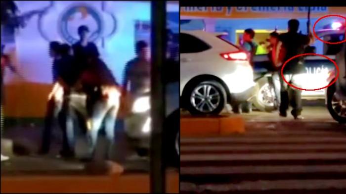 Policias entregan 8 jovenes a grupo armado