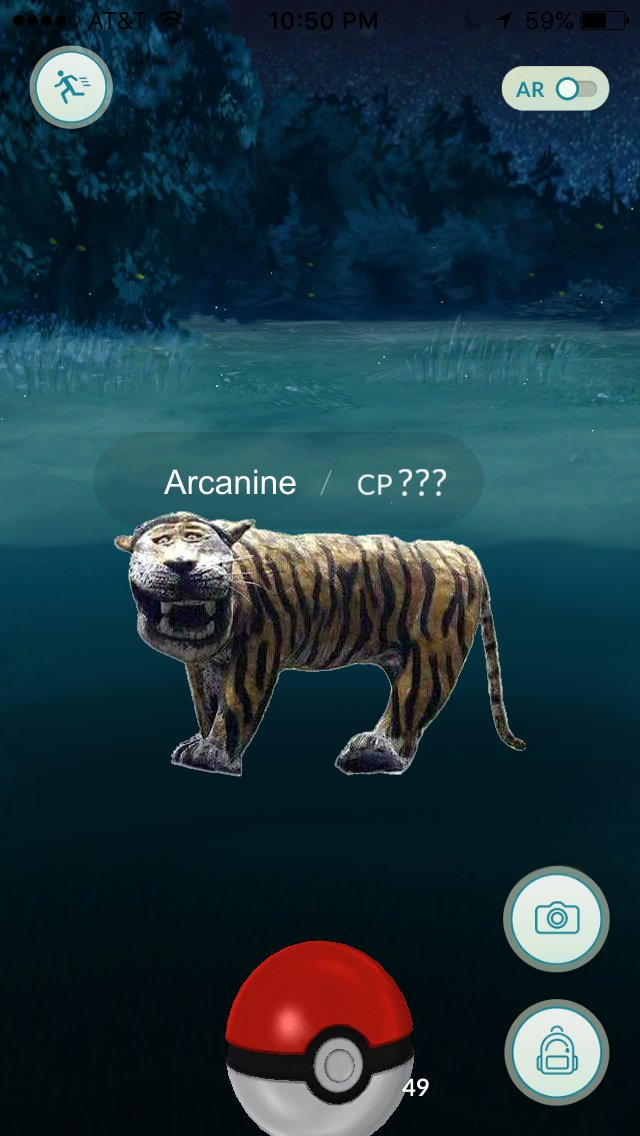 Tigre pokemon go