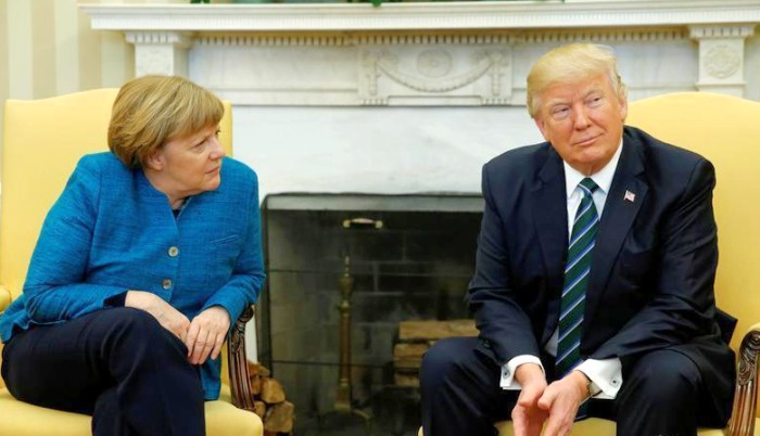 Angela merkel y donald trump