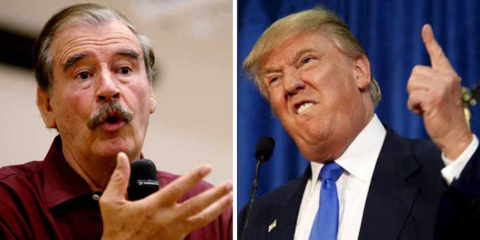 'Ya estamos domesticando a la bestia', dice Vicente Fox de Trump
