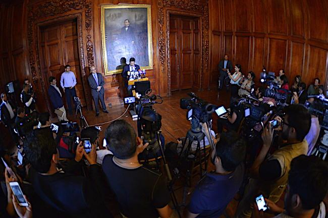 Corral conferencia de prensa