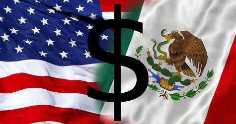 M xico y estados unidos simbolo del peso