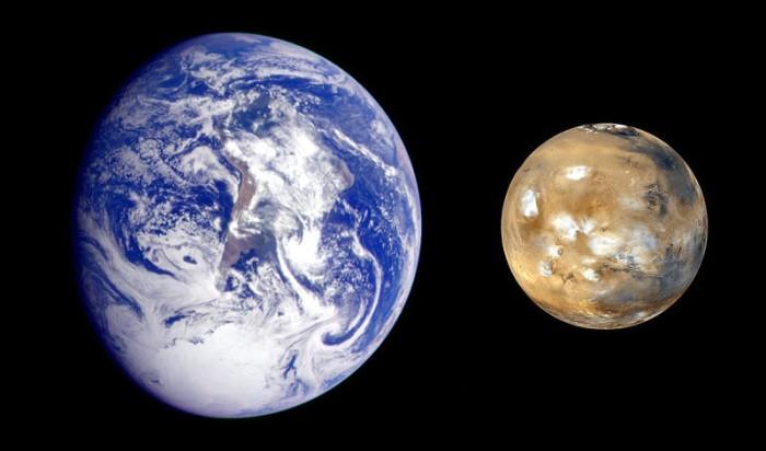 Marte y tierra
