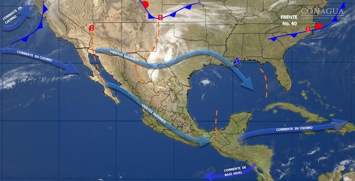 Pronostican tormentas fuertes en Chihuahua, Coahuila y SLP