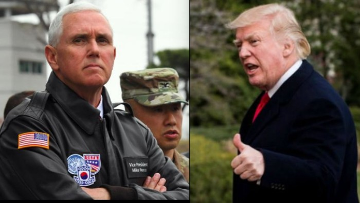 Mike pence donald trump corea del norte