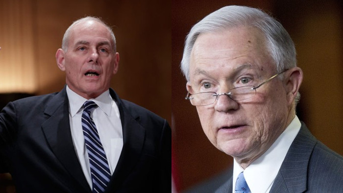 John kelly y jeff sessions