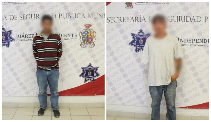 En distintos hechos  polici as municipales detienen a dos sujetos por robo