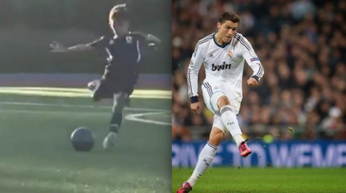 VIDEO| Mira el golazo del hijo de Cristiano Ronaldo