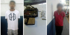 Relacionada detienen polici as municipales a dos sujetos en poder de una libra de marihuana y siete latas del mismo enervante