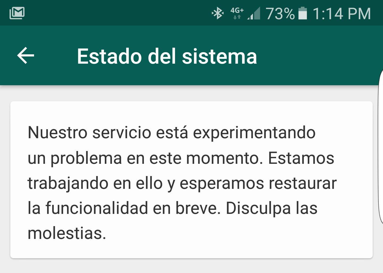 Whatsapp presentó fallas a nivel mundial