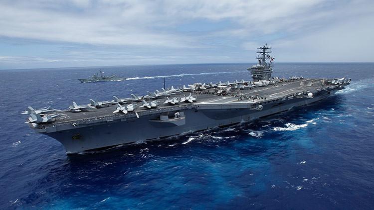 Envía un tercer portaviones como disuasivo contra Corea del Norte