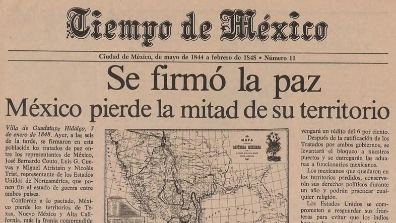 A 169 a os de que mutilaran la mitad de m xico tiempo for Noticias del espectaculo mexicano de hoy