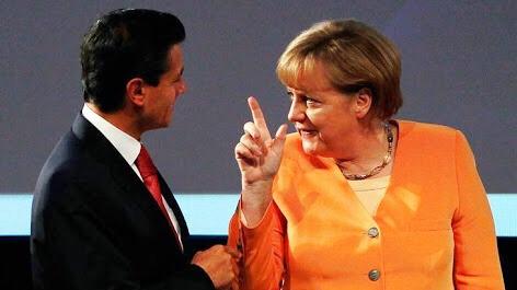 Canciller alemana Merkel visita México