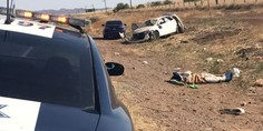 Relacionada volcadura carretera a juarez