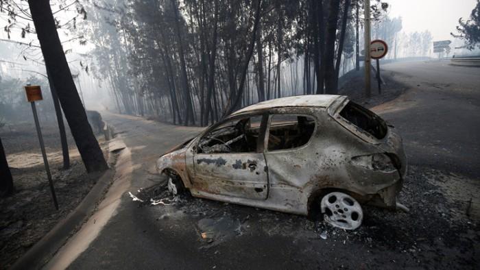 Un dron mostró el escenario de la tragedia del incendio de Portugal