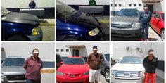 Relacionada decomisaron 8 autos chuecos  conductores bajo arresto