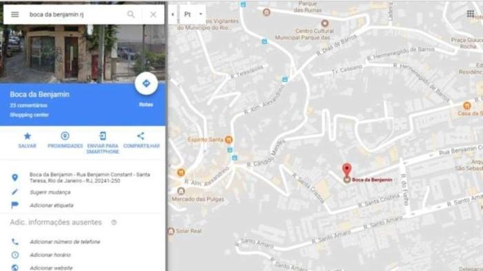 Boca da benjamin google maps