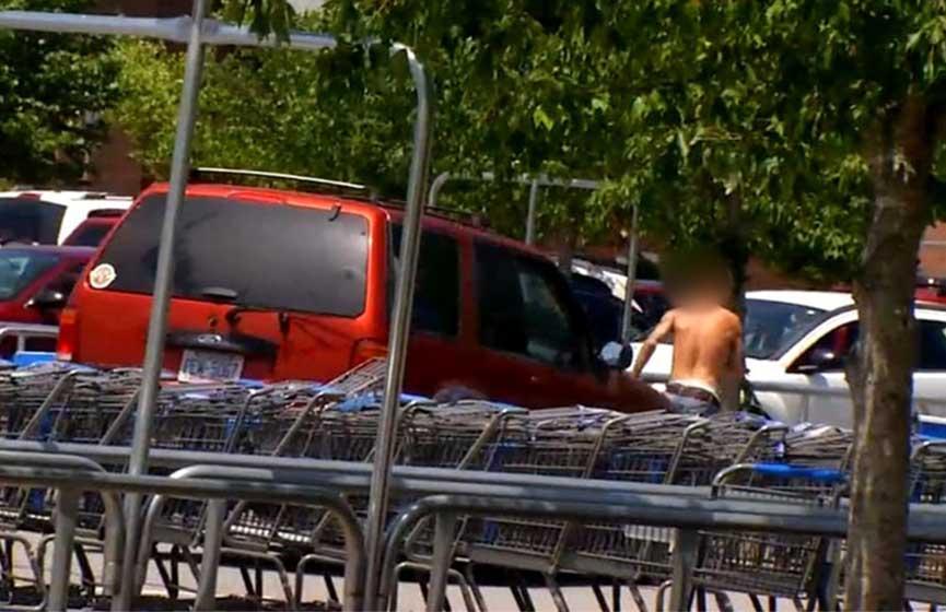 Una mujer embarazada fue asaltada y reaccionó atropellando al delincuente