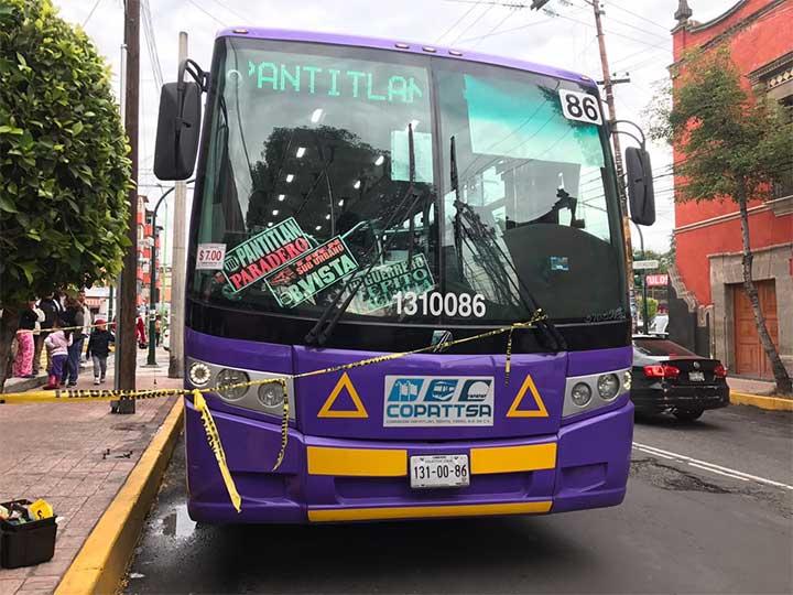 Asesinan a asaltante en transporte público