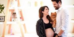 Relacionada laura g embarazada y su esposo