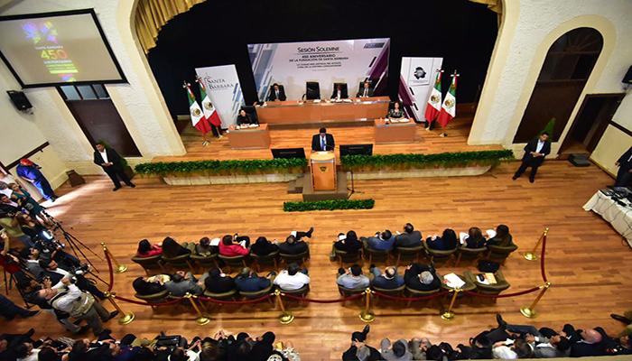 Concluye sesión solemne del Congreso en Santa Bárbara