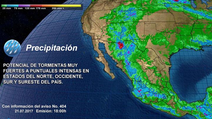 Continuarán tormentas por amplia zona de nublados en el país