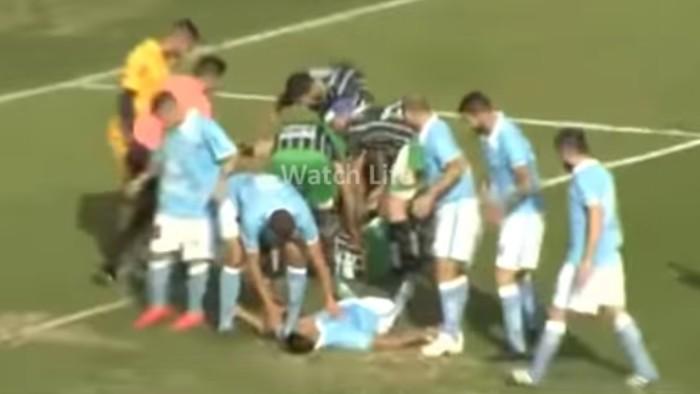 Un jugador terminó con el cráneo hundido tras un choque de cabezas