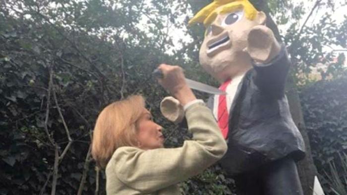 Guadalupe Loaeza acuchilla a Trump... como festejo de cumpleaños