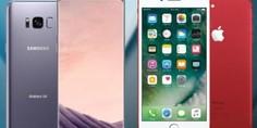 Relacionada samsung galaxy s8 apple iphone 7