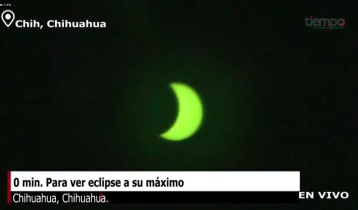 Eclipse solar chihuahua filtro