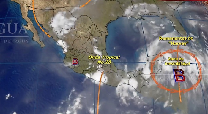 Harvey se degenera a Onda Tropical
