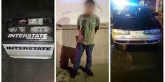 Relacionada agentes de la polici a municipal detienen a sujeto en flagrante delito por robo acumulador de vehi culo
