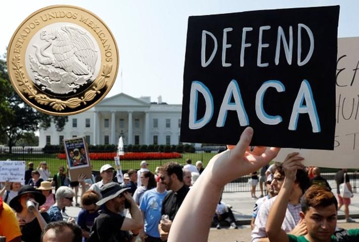 TLCAN, Norcorea y DACA detienen al peso; dólar sube