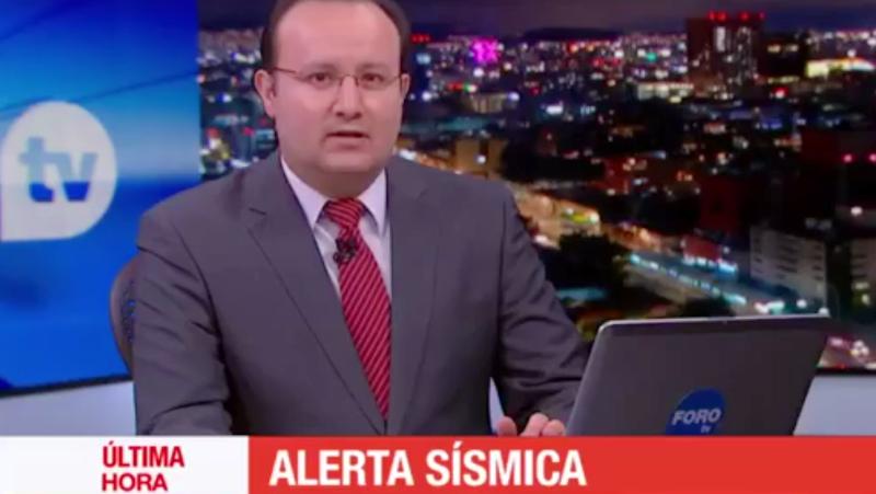 Así se sintió el terremoto de México en un estudio de televisión