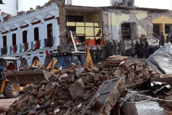 El terremoto ocasiono danos al palacio municipal de juchitan oaxaca ap 1