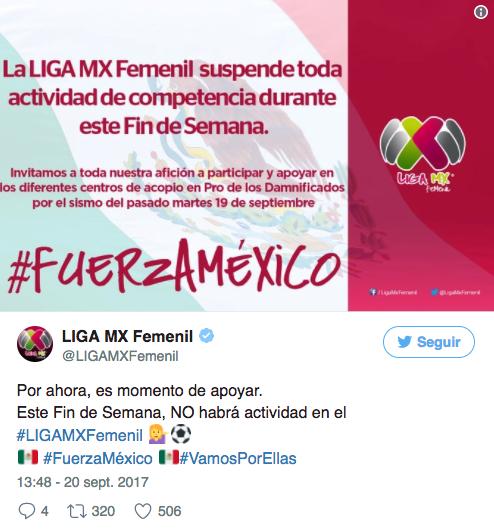 Suspendió la liga de futbol mexicano próximos partidos por sismo ... cbc1c347b6e41