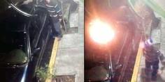 Relacionada auto incendio acoso