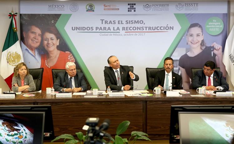 FOVISSSTE aplicará programa para reconstrucción de las viviendas afectadas por fenómenos naturales