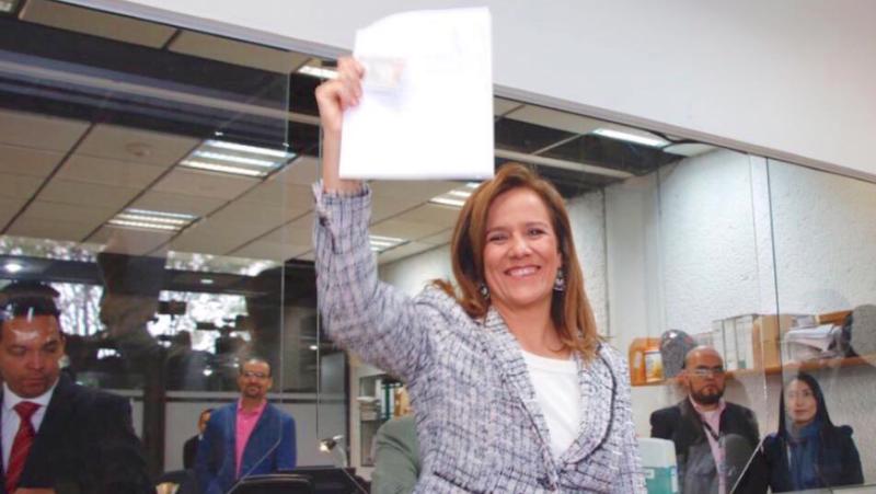 Margarita Zavala realiza su registro como candidata independiente
