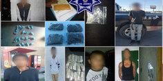 Relacionada agentes municipales en diferentes intervenciones detienen a seis presuntos narcomenudistas