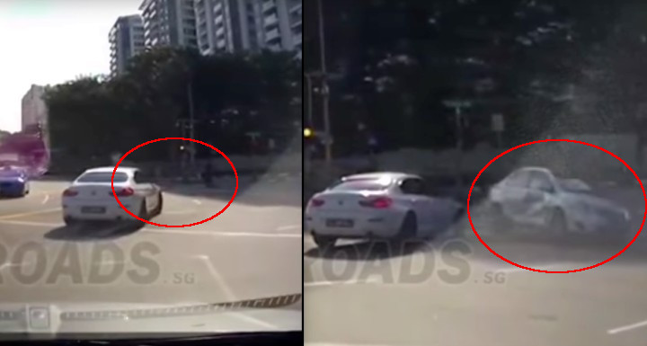 Coche 'fantasma' provoca accidente en Singapur