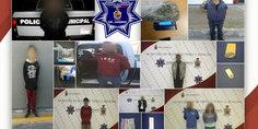 Relacionada agentes municipales en diferentes intervenciones detienen a  nueve presuntos narcomenudistas
