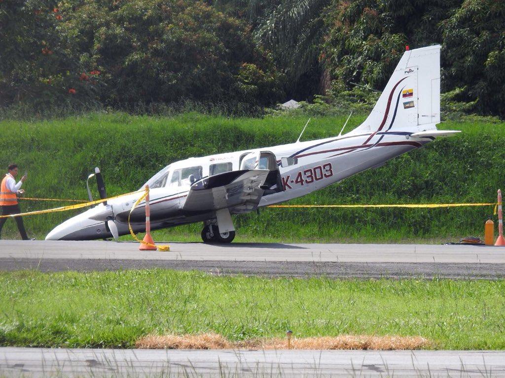 Estremecedor aterrizaje en Medellín