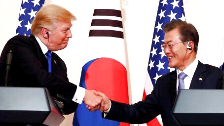 Trump prosigue en China su cruzada contra Corea del Norte