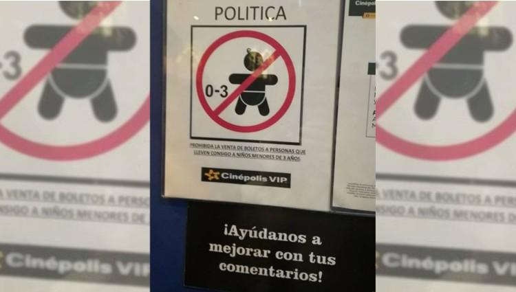 Prohíbe Cinépolis entrada a niños menores de 3 años