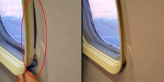 Relacionada ventanilla avion