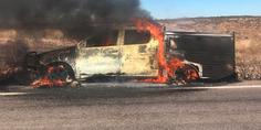 Relacionada incendio camioneta fiscalia