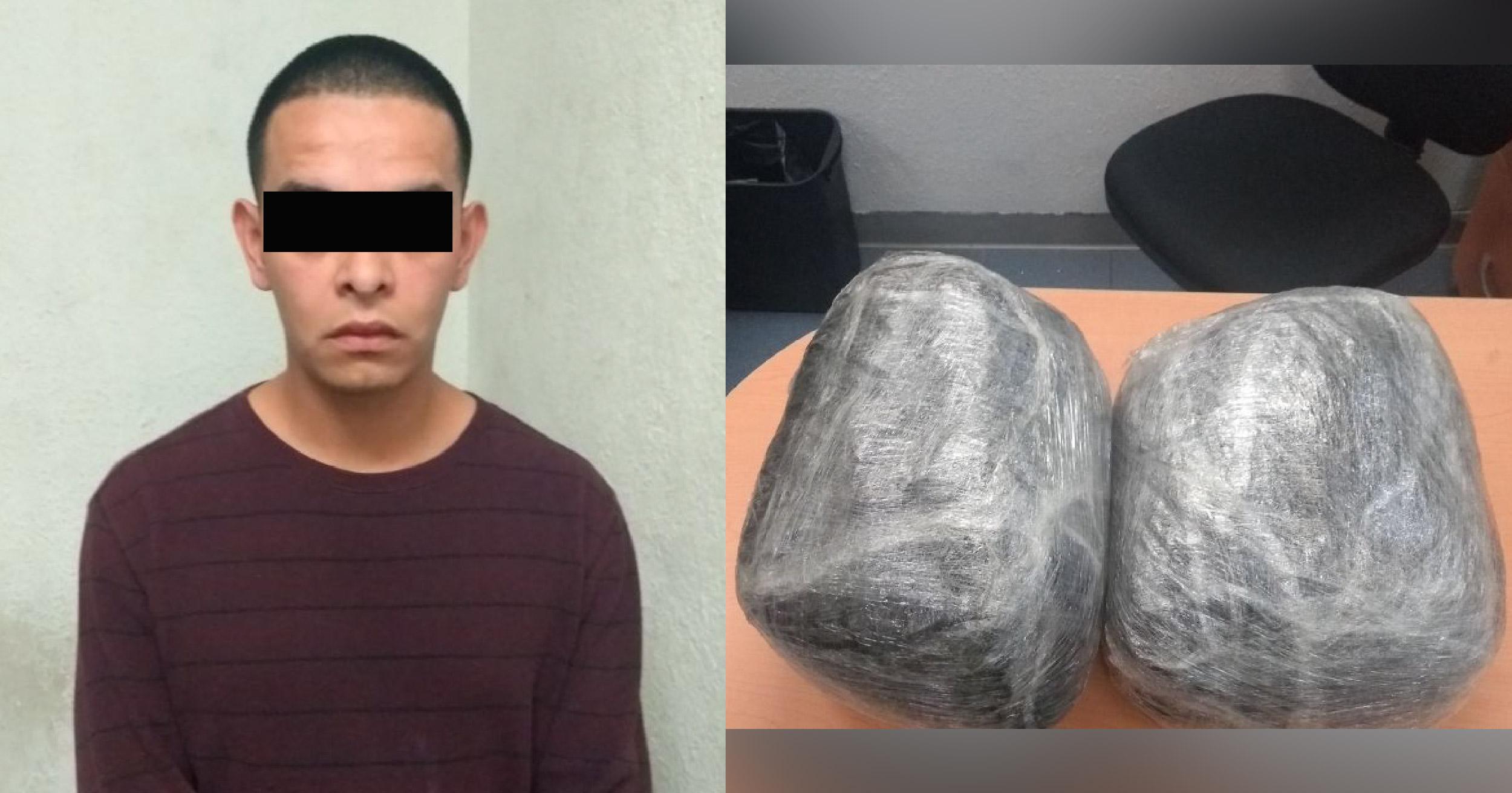 Detenido con paquetes de marihuana 01