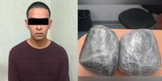 Relacionada detenido con paquetes de marihuana 01