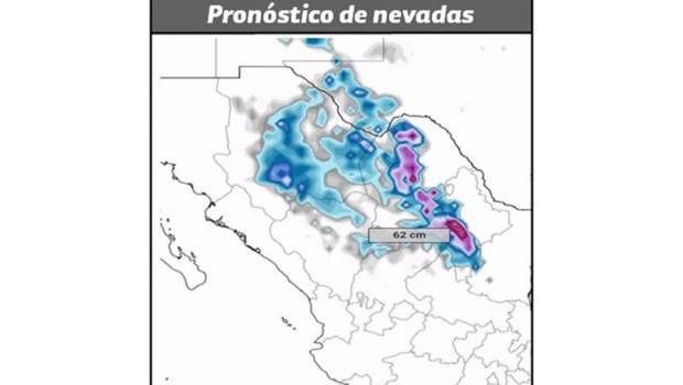 Prevén nevadas y aguanieve para el norte y noreste de México